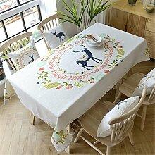HXC Home beige Elch Tischdecken Tischtuch