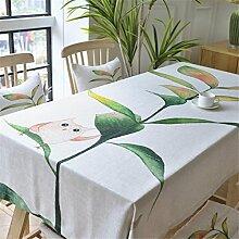 HXC Home beige frisch Eule Tischdecken Tischtuch Baumwolle leinen Amerikanisch Esstisch Rezeption rechteckigen Quadrat Nicht bügeln umweltfreundlich Garten