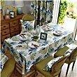 HXC Home blau Grün Blatt Regenwald Geblümt Tischdecken Tischtuch Baumwolle leinen Amerikanisch Esstisch Rezeption rechteckigen Quadrat Nicht bügeln umweltfreundlich Garten