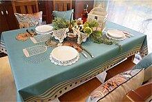 HXC Home blau grün Blüte Vogel minimalistisch tischdecken Baumwolle Leinen rechteckig Platz Nicht Bügeln umweltfreundlich tischläufer tischtuch