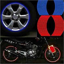 HXLF Mode-Aufkleber Streifen Rad Aufkleber Und