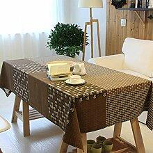 HXRA Tischdecken Outdoor-Tischdecken Baumwolle