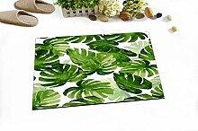 HXY Aquarell Grüne Blätter Monstera Tropische