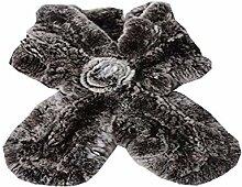 hxy Schal, Schal Dicken Lotus Blatt Kreuz Schal