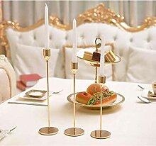HXZF Metall Kerzenhalter Einfache Goldene Hochzeit