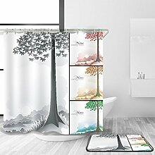 HY-FHLJ Minimalismus Duschvorhang und Badematte Anzug Polyester Mildewproof Wasserdicht Anti-Bakterien Bad Zubehör Bad Dekor Multi Größen , @1 , 100 x 180 cm