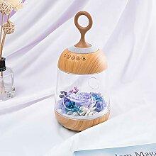 HY&PPJQ Ewige Blume,Glasabdeckung Geschenkbox