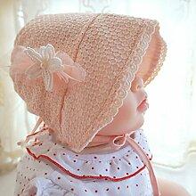HY-Visier Court Hut-rosa europäischen Stil Prinzessin Hut Baby Hüte Frühling und Sommer weiche Spitze atmungsaktive Sonnenschutz Baby Palace Palace Hu