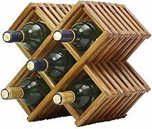 HY-WWK 5 Flaschen Massivholz Weinregal Wohnzimmer