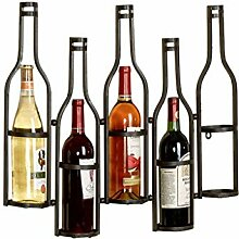 HY-WWK Eisen Wandmontage 5 Flaschen Weinregal