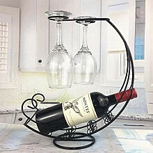HY-WWK Kreative Metall Weinregal Weinglas