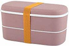 HYAN Kleine 2 Ebenen Bento Box Mini Food Storage