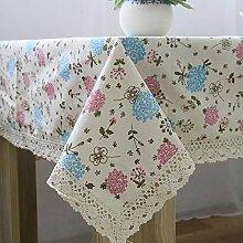 Hyazinthe Tischdecke aus Baumwolle und Leinen,