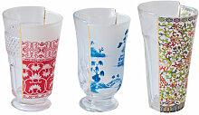 Hybrid  - Clarice Cocktailglas / 3er-Set - Seletti