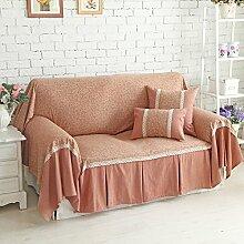 HYDBFKJUBVFU Amerikanische schonbezug sofa,Decken voll decken land stil verdicktes tuch floral bedruckt sofa sofakissen-A 180x300cm(71x118inch)