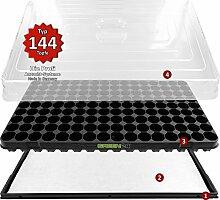 Hydroponik 144 XL Zimmergewächshaus mit automatischer Bewässerung Anzuchthaus - GREEN24® Zimmer Gewächshaus - Treibhaus