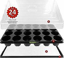 Hydroponik 24 Zimmergewächshaus XL Pro mit automatischer Bewässerung für die Anzucht - GREEN24® Zimmer Treibhaus Gewächshaus