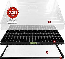 Hydroponik 240 XL Profi Anzuchthaus Zimmer-Gewächshaus mit automatischer Bewässerung - GREEN24® Zimmer Gewächshaus - Treibhaus