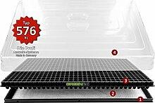 Hydroponik 576 Zimmergewächshaus XL mit automatischer Bewässerung Anzucht-Haus - GREEN24® Profi Zimmer Gewächshaus