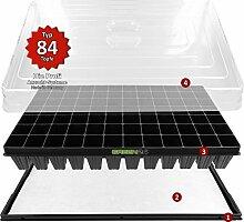 Hydroponik XL84 Zimmergewächshaus Pro mit automatischer Bewässerung für die Anzucht - GREEN24® Zimmer Treibhaus Gewächshaus