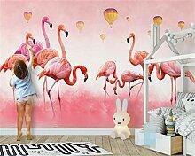 HYF Wallpaper Tapete Wandbild Flamingo Feder