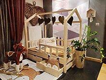 Hyggelia Kinderbett Hausbett aus Holz mit