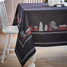 Hyggelige Winter-Tischdecke aus schwedischer