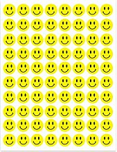 Hygloss Products Happy Smiley Face Yellow Dot