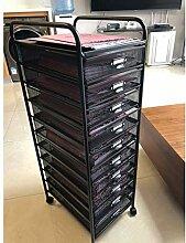 HYL Aktenschränke 6 grid A3 Datei Rack Wagen,