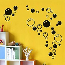 HYLCH Wandaufkleber Kreative Blasen Wandkunst Bad