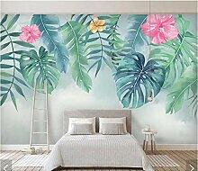 Hyllbb Tropische Blätter Blume Tapete Fototapeten
