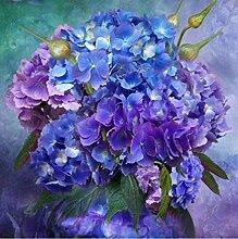 HYLLVC Runde Kristalle DIY Dekoration Bilder Blau