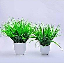 HYLZW Künstliche Blume Topfpflanze Kunstrasen