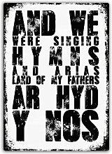 Hymnen und Arias Metall Wandschild Kunst,