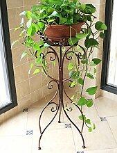 HYNH 108/5000 Europäische Stil Eisen Blume Regal Wohnzimmer Balkon Innen-und Außenbereich Pflanzen Blumentöpfe Rahmen Blumengestell Professionelles Design ( farbe : Bronze , größe : L )