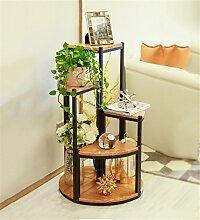 HYNH Amerikanischen Stil kreative Blume Rack Serie Blumentopf Rack / Blume Rack / Bonsai Rahmen Balkon Wohnzimmer Massivholz Rahmen Eingelegtes Regal kreatives Blumengestell ( größe : 38+58+78+100cm )