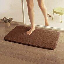 HYNH Anti-Rutsch-absorbierende Tür Matten, Bad-Matte, WC-Matte, Kaffee Farbe Wolldecke Pad Nicht verblassen ( farbe : A3.0cm , größe : 1.0*1.0m )