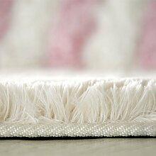 HYNH Anti-Rutsch-absorbierende Türmatten, Bad-Matte, WC-Matte, Weiße Wolldecke Pad Nicht verblassen ( farbe : B4.5cm , größe : 0.8*1.6m )