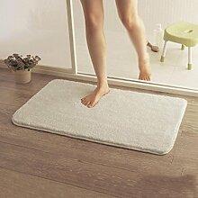 HYNH Anti-Rutsch-absorbierende Türmatten, Bad-Matte, WC-Matte, Weiße Wolldecke Pad Nicht verblassen ( farbe : A3.0cm , größe : 0.8*1.2m )