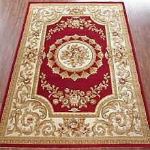 HYNH Europäischer und amerikanischer klassischer handgemachter dreidimensionaler Teppich, Schlafzimmer-Wolldecke-Auflage, rote Matte, 8 Farben-Wahlen Nicht verblassen ( farbe : C , größe : 1.33*1.9m )