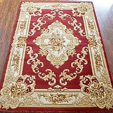 HYNH Europäischer und amerikanischer klassischer handgemachter dreidimensionaler Teppich, Schlafzimmer-Wolldecke-Auflage, rote Matte, 8 Farben-Wahlen Nicht verblassen ( farbe : F , größe : 1.33*1.9m )