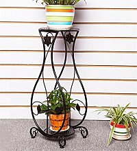 HYNH European-style Iron Flower Shelf Multi-Storey Floor - Style Blumentopf Rack Wohnzimmer Pot Rack / Pflanze Rack Eingelegtes Regal kreatives Blumengestell ( farbe : C , größe : H-80cm )