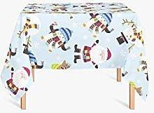 HYO Tischdecke Weihnachten 90X90 cm bun