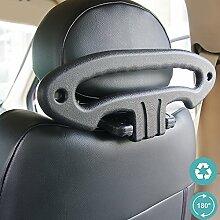 Hypersonic Auto Kopfstütze Kleiderbügel schwarz Kunststoff Sicherheit Griff für Auto