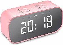 HYRL LED Time Snooze Wecker Lautsprecher Tragbarer
