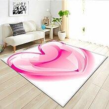 HYRL Valentinstag Love Pattern Area Carpet,