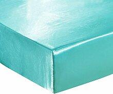 HYSENM Bettlaken Matratzenschoner Satin einfarbig