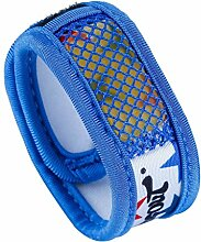 HYSENM Mückenschutz Moskito Armband Insektenschutz antimücken mit Klettverschluss 2 freie Nachfüllungen wasserdicht Camping Reise Angeln, Blau