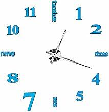 HYSJJGZ Wanduhren Super Große Kreative Uhr DIY