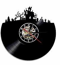 hysxm 1 Stück Halloween Dekorationen Schallplatte